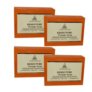 Khadi Pure Herbal Orange Soap - 125g (set Of 4)
