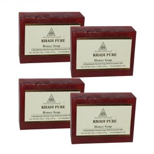 Khadi Pure Herbal Honey Soap - 125g (set Of 4)