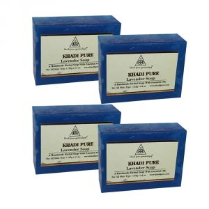 Khadi Pure Herbal Lavender Soap - 125g (set Of 4)