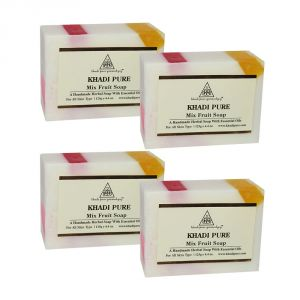 Khadi Soaps - Khadi Pure Herbal Mix Fruit Soap - 125g (Set of 4)