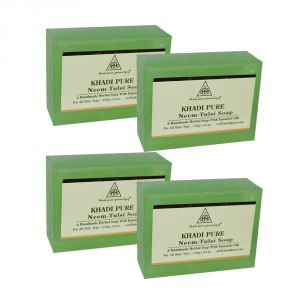 Khadi Pure Herbal Neem Tulsi Soap - 125g (set Of 4)
