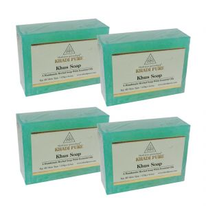Khadi Pure Herbal Khus Soap - 125g (set Of 4)