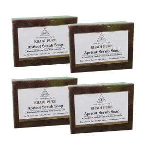 Khadi Pure Herbal Apricot Scrub Soap - 125g (set Of 4)