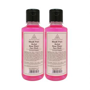Khadi Pure Herbal Rose Water Face Wash - 210ml (set Of 2)