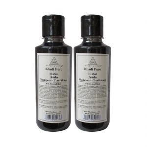 Khadi Pure Herbal Amla Shampoo Conditioner - 210ml (set Of 2)