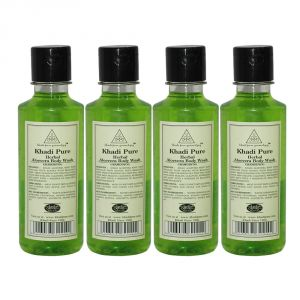 Khadi Pure Herbal Aloevera Body Wash - 210ml (set Of 4)