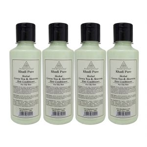 Khadi Pure Herbal Green Tea & Aloevera Hair Conditioner - 210ml (set Of 4)