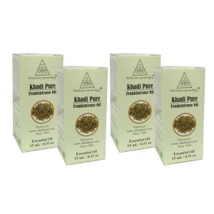 Globus,Diesel,Khadi,Nike,Kent,Indrani Personal Care & Beauty - Khadi Pure Herbal Frankincence Essential Oil - 15ml (Set of 4)