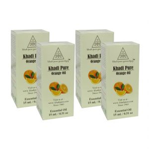 Garnier,Olay,Ucb,Khadi,Viviana Body Care - Khadi Pure Herbal Orange Essential Oil - 15ml (Set of 4)