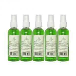 Skin Toners, Cleansers - Khadi Pure Herbal Neem & Cucumber Face Freshener - 100ml (Set of 5)