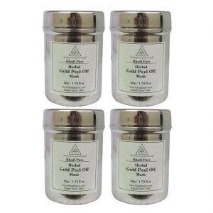 Khadi Pure Herbal Gold Peel Off Mask - 50g (set Of 4)