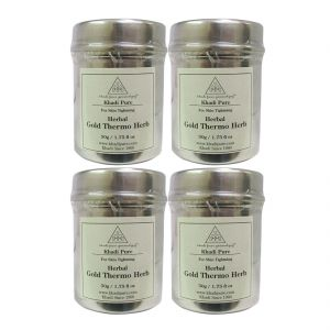 Khadi Pure Herbal Gold Thermo Herb - 50g (set Of 4)