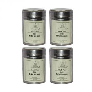 Khadi Pure Herbal Rose Face Mask - 50g (set Of 4)