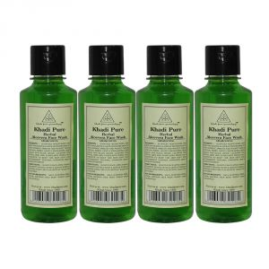 Khadi Pure Herbal Aloevera Face Wash - 210ml (set Of 4)