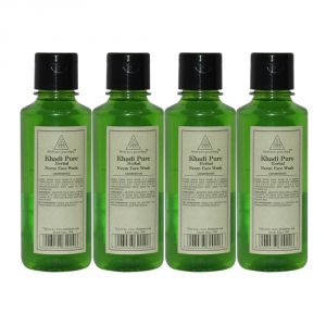 Khadi Pure Herbal Neem Face Wash - 210ml (set Of 4)