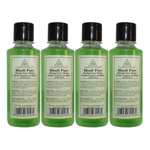 Khadi Pure Herbal Neem, Teatree & Basil Face Wash - 210ml (set Of 4)