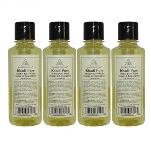 Khadi Pure Herbal Orange & Lemongrass Face Wash - 210ml (set Of 4)