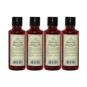 Khadi Pure Herbal Sandalwood & Honey Face Wash - 210ml (set Of 4)