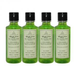 Khadi Pure Herbal Aloevera Face Wash Sls-paraben Free - 210ml (set Of 4)