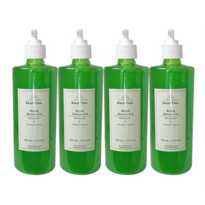 Globus,Diesel,Khadi,Gucci Body Care - Khadi Pure Herbal Aloevera Gel with Liquorice & Cucumber Extracts - 500g (Set of 4)