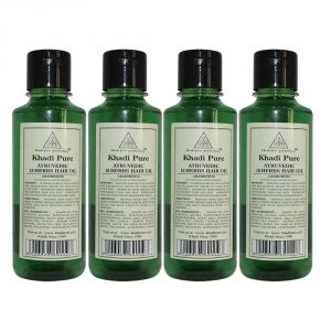 Khadi Pure Herbal Ayurvedic 18 Herbs Hair Oil - 210ml (set Of 4)