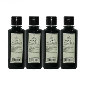 Khadi Pure Herbal Bhringraj Hair Oil - 210ml (set Of 4)