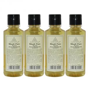 Khadi Pure Herbal Sweet Almond Oil - 210ml (set Of 4)