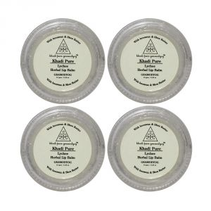 Khadi Pure Herbal Lychee Lip Balm - 10g (set Of 4)