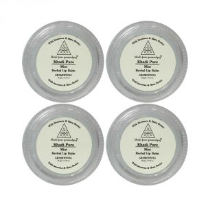 Nova,Elizabeth Arden,Jazz,Olay,Maybelline,Khadi Body Care - Khadi Pure Herbal Mint Lip Balm - 10g (Set of 4)