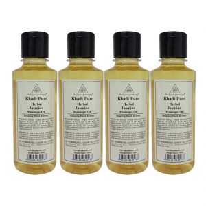 Khadi Pure Herbal Jasmine Massage Oil - 210ml (set Of 4)