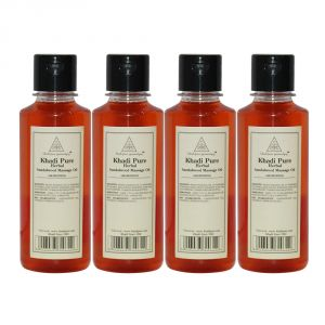 Khadi Pure Herbal Sandalwood Massage Oil - 210ml (set Of 4)