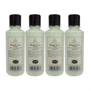 Khadi Pure Herbal Aloevera Moisturizer - 210ml (set Of 4)