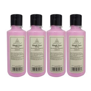 Khadi Pure Herbal Rose & Honey Moisturizer - 210ml (set Of 4)
