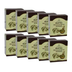 Khadi Pure Herbal Multani Mitti - 80g (set Of 10)