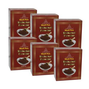 Khadi Pure Herbal Shikakai Powder - 80g (set Of 6)