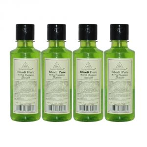Khadi Pure Herbal Aloevera Shampoo - 210ml (set Of 4)