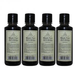 Khadi Pure Herbal Amla & Bhringraj Shampoo - 210ml (Set Of 4)