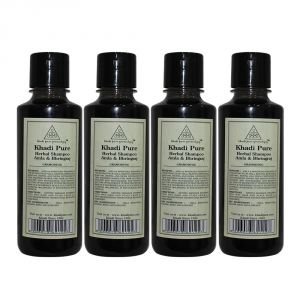 Khadi Pure Herbal Amla & Bhringraj Shampoo - 210ml (set Of 4)