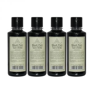 Khadi Pure Herbal Amla & Reetha Shampoo - 210ml (set Of 4)