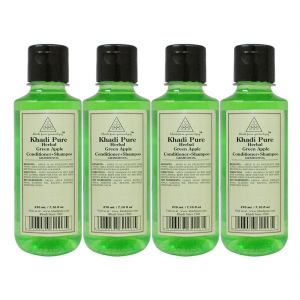 Khadi Pure Herbal Green Apple Shampoo Conditioner - 210ml (set Of 4)