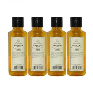 Khadi Pure Herbal Honey & Lemon Juice Shampoo - 210ml (set Of 4)