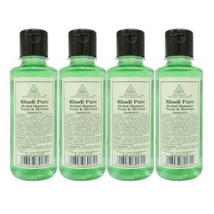 Khadi Pure Herbal Neem & Aloevera Shampoo - 210ml (set Of 4)