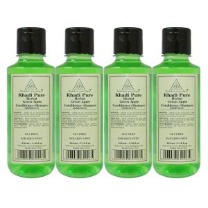 Khadi Pure Herbal Green Apple Shampoo Conditioner Sls-paraben Free - 210ml (set Of 4)