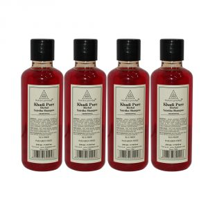 Khadi Pure Herbal Satritha Shampoo Sls-paraben Free - 210ml (set Of 4)