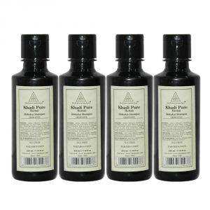 Khadi Pure Herbal Shikakai Shampoo SLS-Paraben Free - 210ml (Set Of 4)