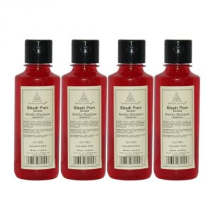 Khadi Pure Herbal Reetha Shampoo Sls-paraben Free - 210ml (set Of 4)