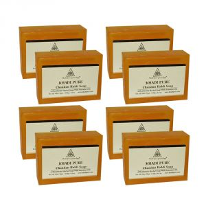 Khadi Pure Herbal Chandan Haldi Soap - 125g (set Of 8)