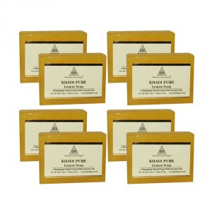 Khadi Pure Herbal Lemon Soap - 125g (set Of 8)