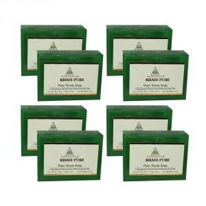 Khadi Pure Herbal Pure Neem Soap - 125g (set Of 8)