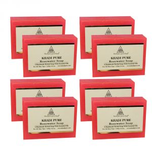 Khadi Pure Herbal Rose Water Soap - 125g (set Of 8)